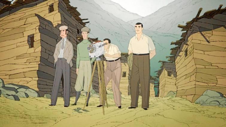 """Fotograma de la película de animación """"Buñuel en el laberinto de las tortugas"""""""